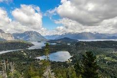 Vue des lacs, Bariloche, Argentine Photo libre de droits
