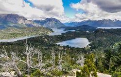Vue des lacs, Bariloche, Argentine Images libres de droits