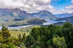 Vue des lacs, Bariloche, Argentine Photos libres de droits