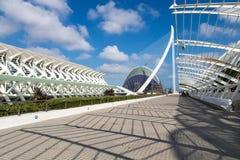 Vue des les Ciències, Valence, Espagne de Ciutat de les Arts i photographie stock libre de droits