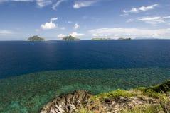 Vue des îles de groupe de Mamanuca, Fidji Photo stock