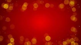 Vue des lumières defocused sur le fond loopable rouge 4k (4096x2304) banque de vidéos