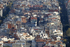 Vue des maisons de l'Eixample de Barcelone Images libres de droits