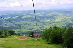 Vue des montagnes carpathiennes photos libres de droits