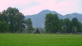 Vue des montagnes d'Altai banque de vidéos