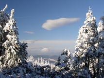 Vue des montagnes d'Izerskie Photos libres de droits