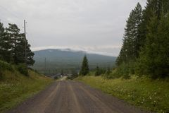 Vue des montagnes dans les Monts Oural du sud Image stock