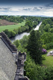 Vue des montagnes de château Photographie stock libre de droits