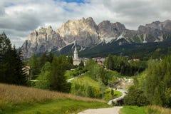 Vue des montagnes de dolomites Photos libres de droits
