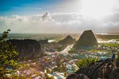 Vue des montagnes de marbre photographie stock libre de droits