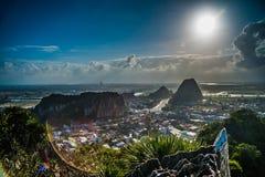 Vue des montagnes de marbre, Da Nang image libre de droits