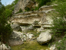 Vue des montagnes de Rhodope, Bulgarie Image stock