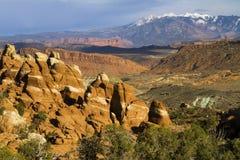 Vue des montagnes de Salle de Manti-La du four de Firey images stock