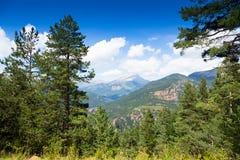 Vue des montagnes du clou Image libre de droits