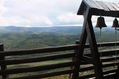 Vue des montagnes du monastère Images stock