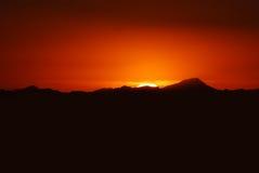 Vue des montagnes entourant Phoenix au coucher du soleil, A photos stock