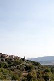 Vue des montagnes entre l'Ombrie et la Toscane en Italie image libre de droits