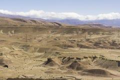Vue des montagnes et des déserts photos stock