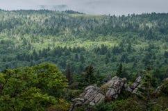 Vue des montagnes, Grayson Highlands, la Virginie Images libres de droits