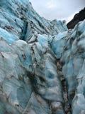 Vue des murs glacials froids, au glacier de Fox, le Nouvelle-Zélande image libre de droits