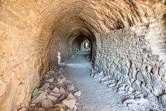 Vue des murs historiques dans la région de Sur, Diyarbakir, Turquie images libres de droits