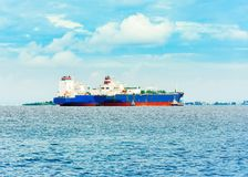 Vue des navires marchands dans l'Océan Indien, mâle, Maldives Images stock