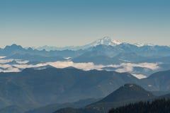 Vue des nuages arrangeant dedans de Mt Fremont Photos stock