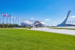 Vue des objets du parc d'Olimpic Images stock