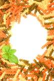 Vue des pâtes colorées Photographie stock
