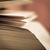 Vue des pages de livre Photos libres de droits