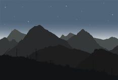 Vue des paysages de montagne dévastés après l'apocalypse illustration libre de droits