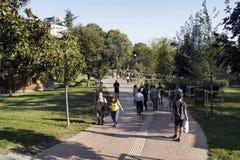 Vue des personnes marchant au parc Photographie stock libre de droits