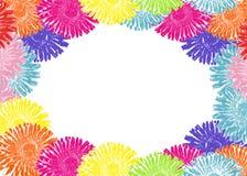 Vue des pissenlits colorés Photo stock