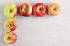 Vue des pommes Photo stock
