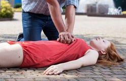 Vue des premiers secours images libres de droits
