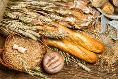 Vue des produits dans la boulangerie Image libre de droits