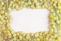 Vue des raisins blancs Photos libres de droits
