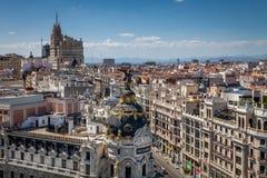 Vue des roofes de Madrid Photos libres de droits