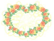 Vue des roses abstraites Illustration de Vecteur
