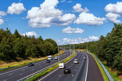 Vue des routes dans Doorwerth Pays-Bas Avec 139.295 kilomètres de Photos libres de droits
