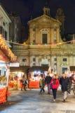 Vue des rues caractéristiques du centre de Gênes Images libres de droits