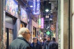 Vue des rues caractéristiques du centre de Gênes Photo libre de droits