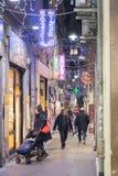 Vue des rues caractéristiques du centre de Gênes Photos stock