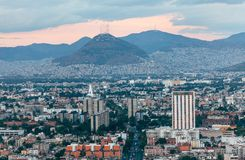 Vue des rues et des voisinages de Mexico Photo libre de droits