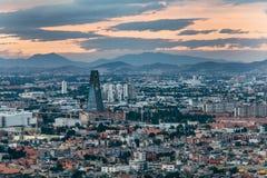 Vue des rues et des voisinages de Mexico Photographie stock libre de droits