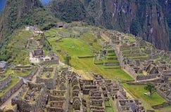 Vue des ruines chez Machu Picchu, Pérou Photos libres de droits