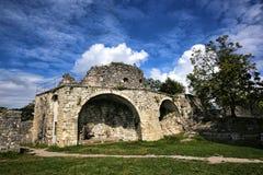 Vue des ruines de la forteresse d'Anakopia photographie stock
