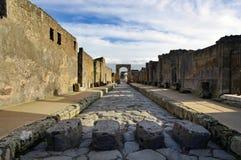 Vue des ruines de Pompeii. l'Italie. photo stock