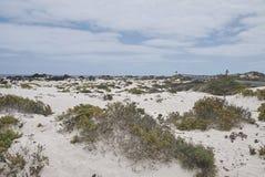 Vue des sables blancs de Caleta de Mojon Blanco Images libres de droits