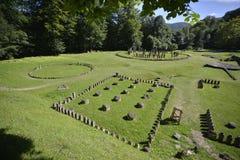 Vue des sanctuaires de Sarmizegetusa Regia images libres de droits